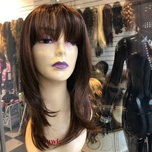 Accessories - Wig brown mix skin top 14 inch Layers 2019 New Wig